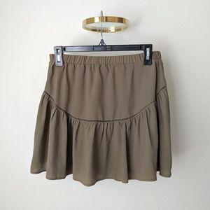 Banana Republic Olive Green Mini Skirt, size XS
